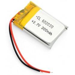 300mAh 3.7V lithium...